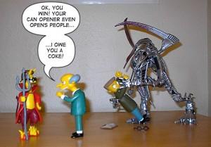 Simpsons Burns Flanders Devil Smithers Manga Cyber Violator