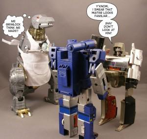 Grimlock waiter Megatron Soundwave It Figures
