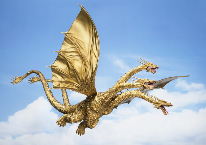 S.H.MonsterArts King Ghidorah Now Available