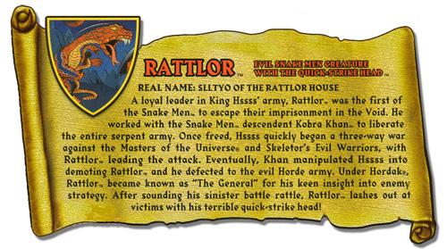 MOTUC Bio Discussion > Rattlor