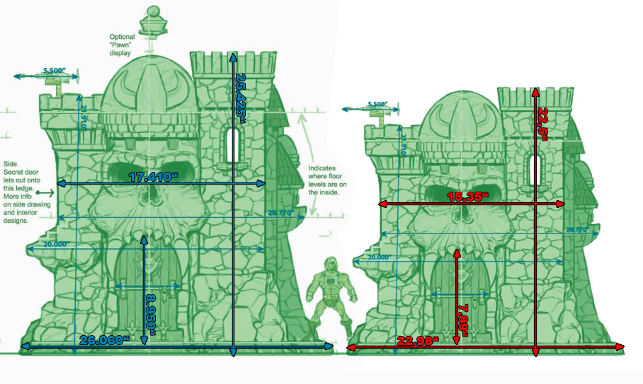 Castle grayskull blueprints vs prototype for How to build a blueprint