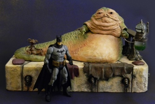 "Joe's 6"" Jabba, with the best 6"" Batman figure ever made for scale"