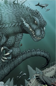 Frank's art features fun Easter eggs, like the Yahlen from Godzilla vs. the Sea Monster.