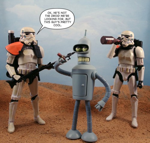 OK, he's not the droid we're looking for, but this guy's pretty cool.